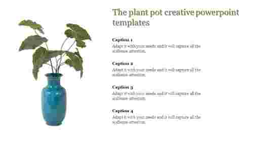 creative powerpoint templates-The plant pot creative powerpoint templates