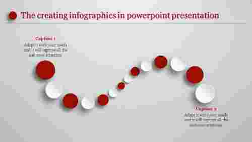 creating infographics in powerpoint - curved circles