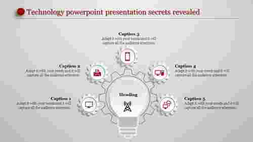 technology powerpoint presentation - hexagonal bulb