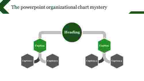 powerpoint organizational chart - six hexagonal
