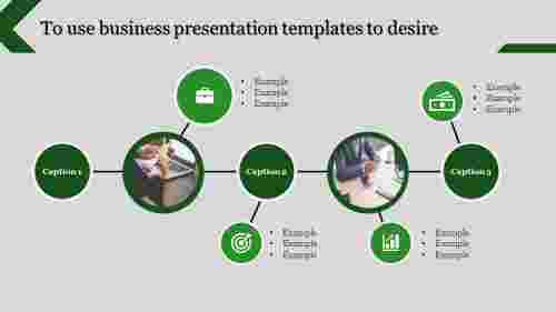 business presentation templates - connected circles