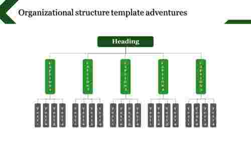 green organizational structure template - updown