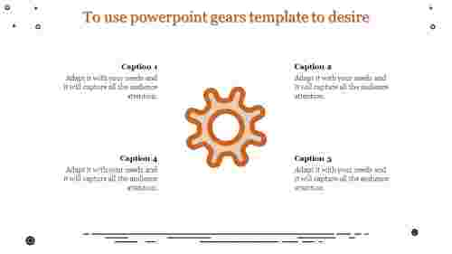 powerpoint gears template - single gear wheel