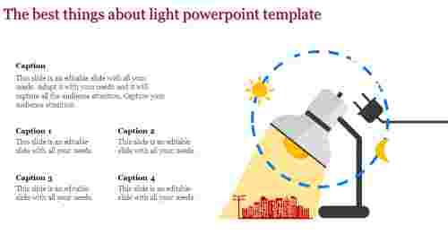 light powerpoint template - street light