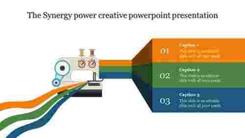 creative powerpoint presentation - ribbon model