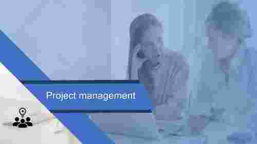 Discuss about project management PowerPoint template