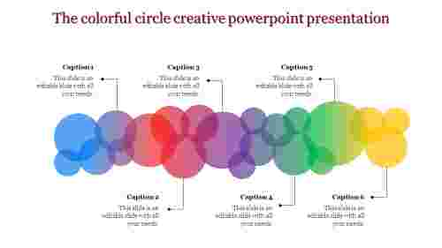 creative powerpoint presentation-The colorful circle creative powerpoint presentation