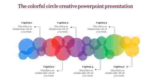creative powerpoint presentation - multi color circles