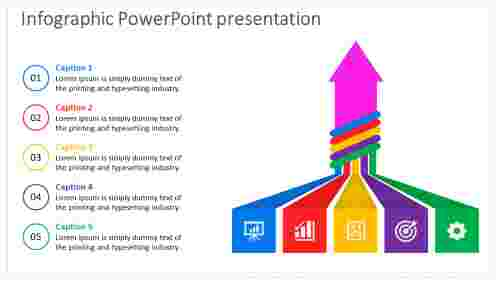 infographic powerpoint presentation - arrows