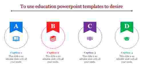 education powerpoint templates - medal shape