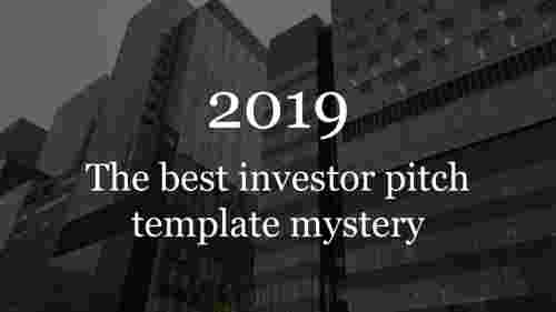 Title slide-investor pitch template