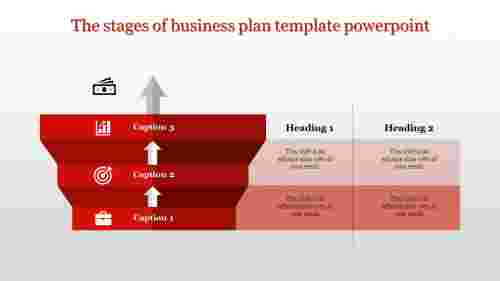 A three noded business plan template powerpoint