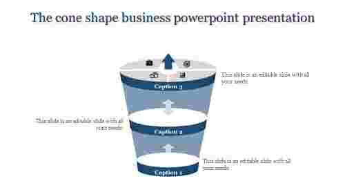 threelevelbusinesspowerpointpresentation-funnelmodel