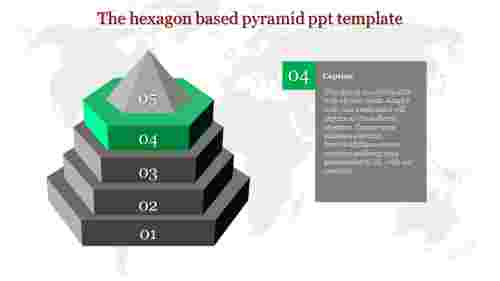pyramid ppt template-The hexagon based pyramid ppt template-Style 2