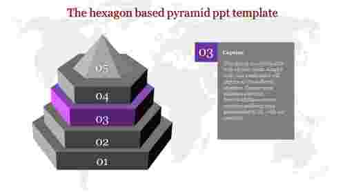 pyramid ppt template-The hexagon based pyramid ppt template-Style 3