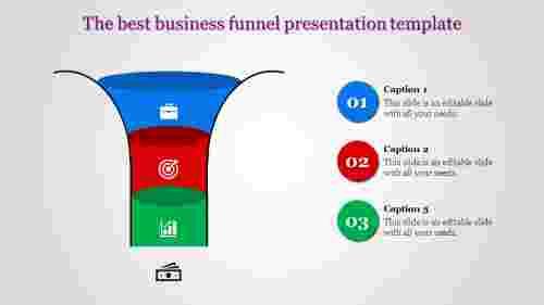 Simple funnel presentation template
