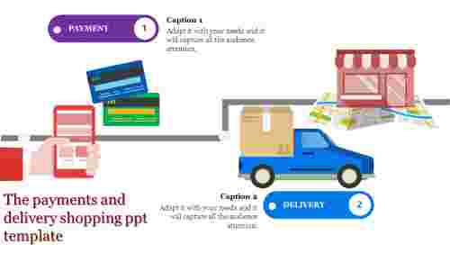 shopping ppt template-The payments and delivery shopping ppt template