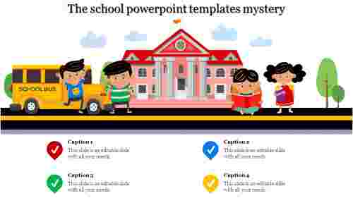 A four noded school powerpoint templates