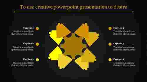 A six noded creative powerpoint presentation