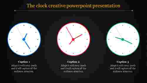 A three noded creative powerpoint presentation