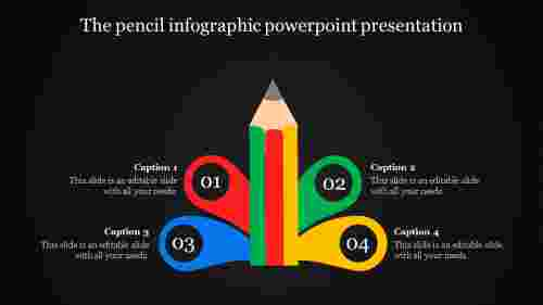 A four noded infographic powerpoint presentation