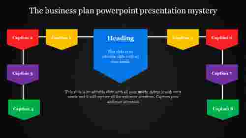 A eight noded business plan powerpoint presentation