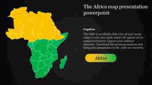 map presentation powerpoint-The Africa map presentation powerpoint