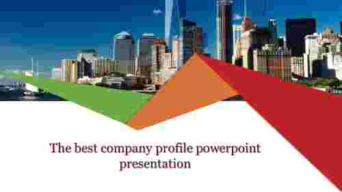 A one noded company profile powerpoint presentatio