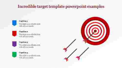 Target template powerpoint Jagged