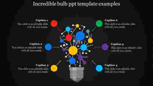 A six noded bulb PPT template