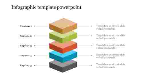 Infographic template powerpoint - 3D Diamond Shape