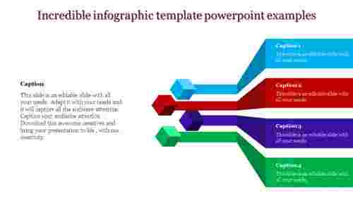 A four noded infographic template powerpoint