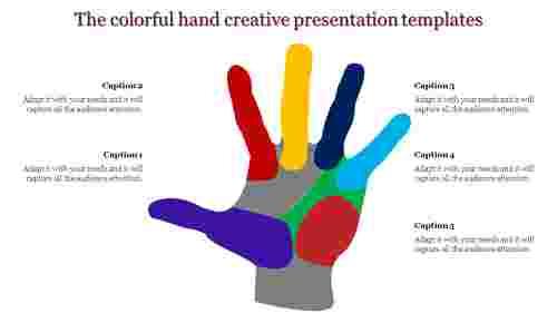 A five noded creative presentation templates