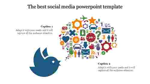 Communication social media powerpoint template