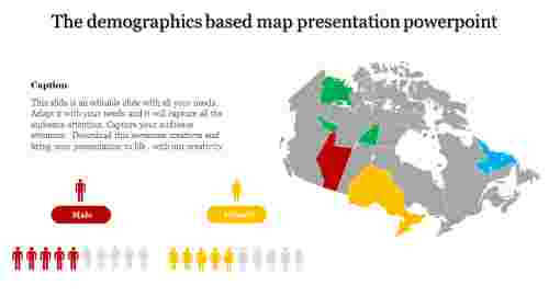 map presentation powerpoint-The demographics based map presentation powerpoint