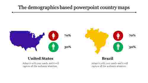 powerpoint country maps-The demographics based powerpoint country maps