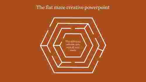 creative powerpoint-The flat maze creative powerpoint