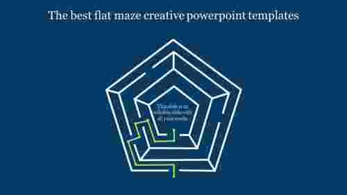 creative powerpoint templates-The best flat maze creative powerpoint templates-Style 1