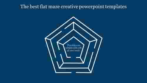 creative powerpoint templates-The best flat maze creative powerpoint templates