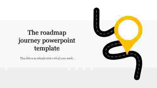 Roadmap Journey PowerPoint Template - Serpentine model