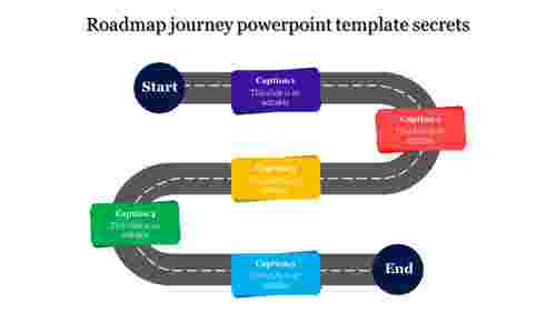 Zigzag Roadmap Journey Powerpoint Template