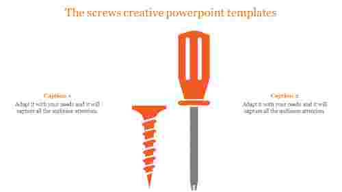 Creative powerpoint templates-Tester and screw