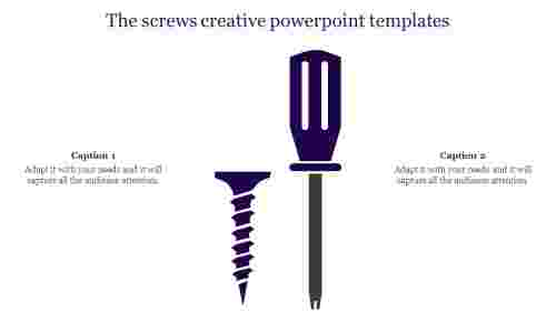 Creative powerpoint templates-Screws Designs