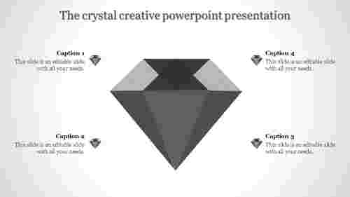 creative powerpoint presentation-The crystal creative powerpoint presentation-Gray