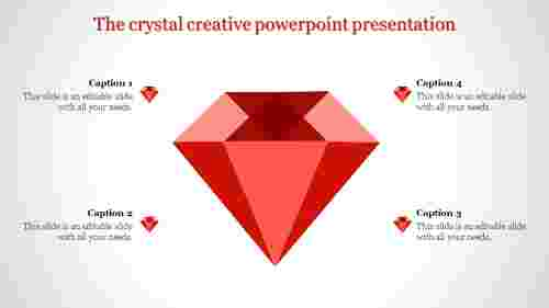 creative powerpoint presentation-The crystal creative powerpoint presentation-Red