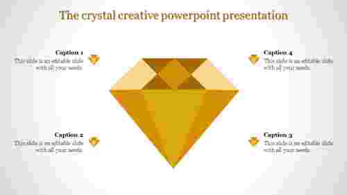 creative powerpoint presentation-The crystal creative powerpoint presentation-Yellow
