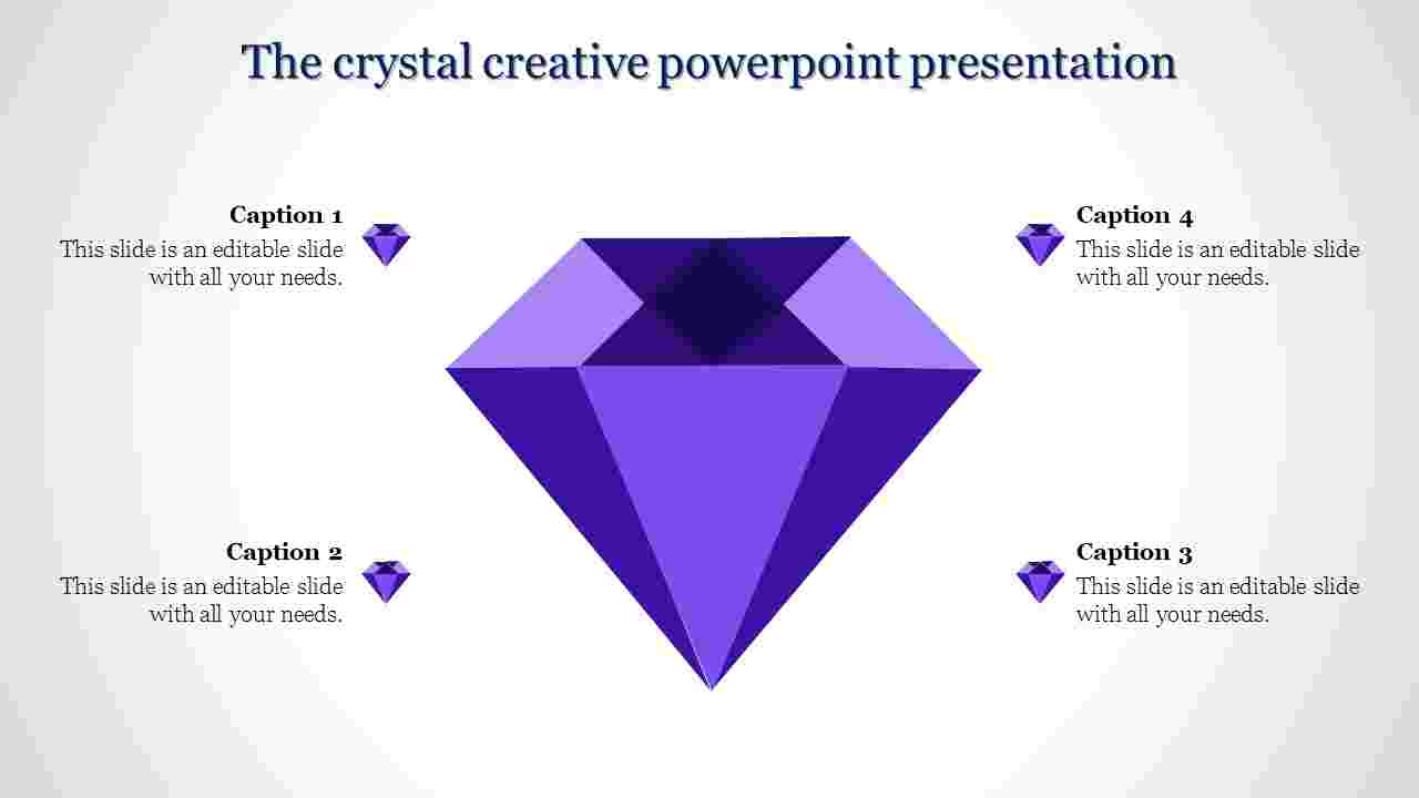creative powerpoint presentation-The crystal creative powerpoint presentation