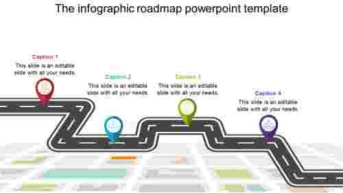 Landmark Roadmap Powerpoint Template
