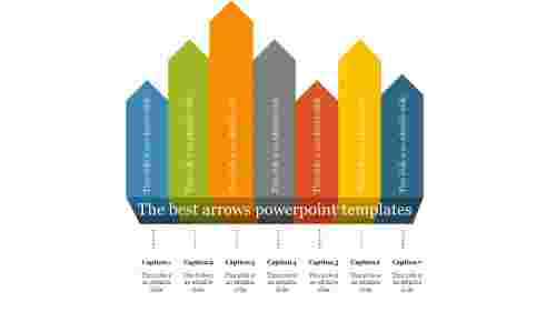 Wall model arrows powerpoint templates
