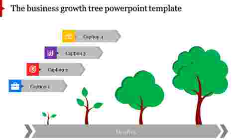 A four noded tree powerpoint template